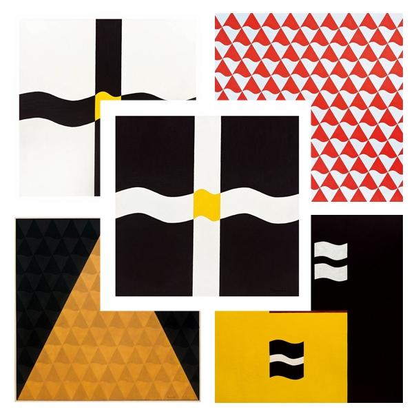 Produções de Ramón Cáceres: o artista paraguaio tem forte ligação com a estética concretista (Márcio Fischer/CB/Divulgação/D.A Press)