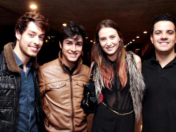 Lucas Silvestre, Max Araujo, Leticia Teixeira e Victor Goncalves, durante o Festival Internacional de Cinema de Brasilia, BIFF (Lula Lopes/Esp. CB/D.A Press)
