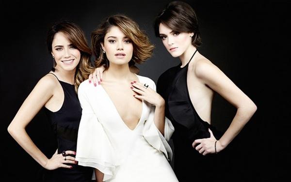 O trio do elenco de Sangue Bom em fotos para uma revista (André Schiliró/ Revista Estilo. )