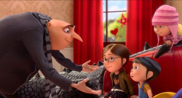 Após se assumir como pai adotivo de três meninas, o ex-vilão Gru passa a integrar uma organização de combate ao crime (Paramount/Divulgação)