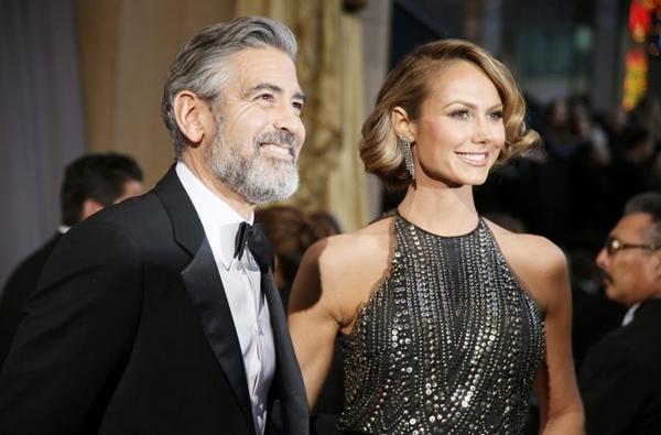 A última vez que George e Stacy foram vistos juntos foi em março, quando o ator estava filmando em Berlim (REUTERS/Lucy Nicholson)