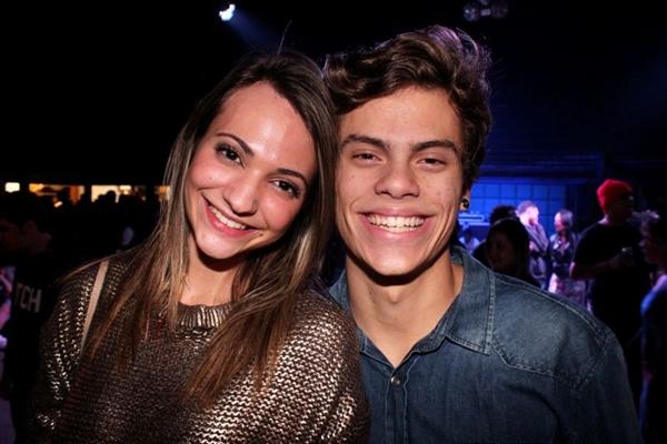 Yasmin Yunes e Ivan Mello durante a festa Vibe, na Asbac (Luis Xavier de França/Esp. CB/D.A Press)