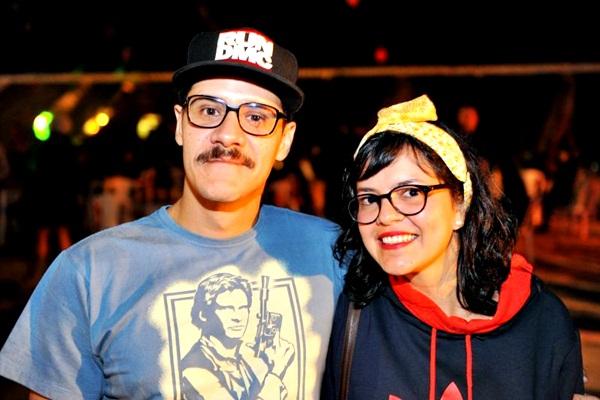Os irmãos DJ Emídio e Mayara Monteiro durante a festa Funfarra, no Ascade (Luis Xavier de França/Esp. CB/D.A Press)