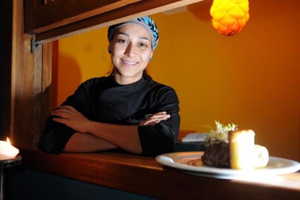 Drica Lima abriu o Samedi em casa, onde serve jantar, feito por ela, que  começa por um delicioso couvert (Bruno Peres/CB/D.A Press)