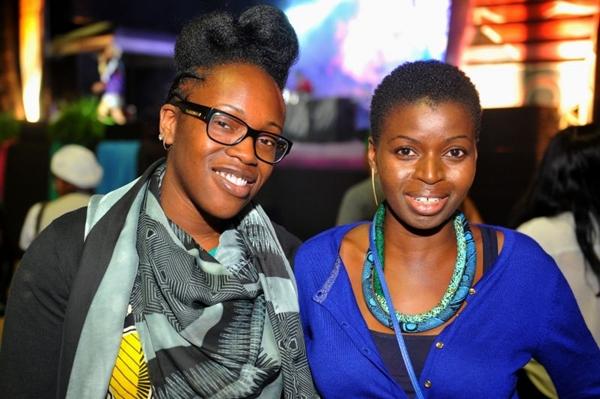As estilistas de Londres Samantha-Jane Ofoegbu e Nike Eji Adigun  (Luis Xavier de França/Esp. CB/D.A Press)
