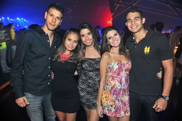 Carlos Andrade, Luana Morais, Samanta Faleiro, Camila Campos e Fernanndo de Paula (Luis Xavier de França/Esp. CB/D.A Press)