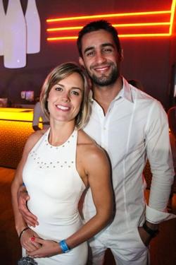 Anna Magalhães e Rodrigo Amaral na festa Pacha White Party (Luis Xavier de França/Esp. CB/D.A Press)