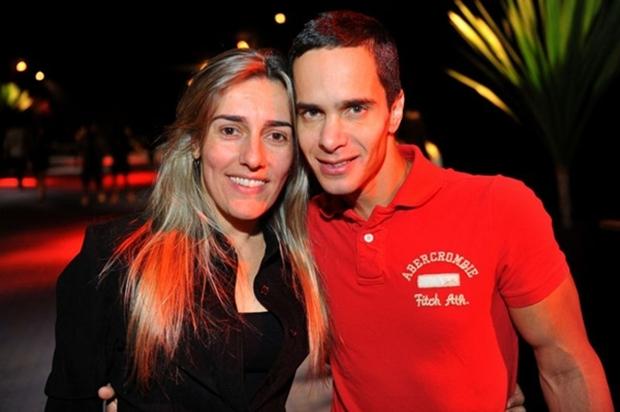 Andreia Bajo e Augusto César Miranda, no show do Djavan (Luis Xavier de França/Esp. CB/D.A Press)