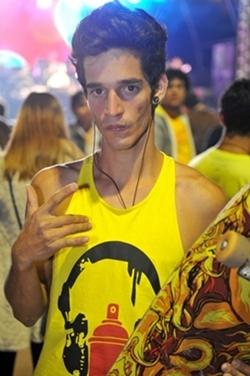 Wesley Gonçalves, no show d%u2019Os Mutantes (Luis Xavier de França/Esp. CB/D.A Press)