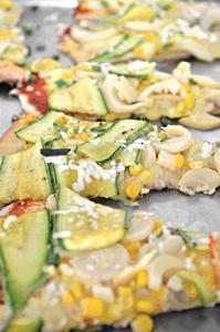 Pizza à base de abobrinha: opção para artistas vegetarianos (Monique Renne/CB/D.A Press)
