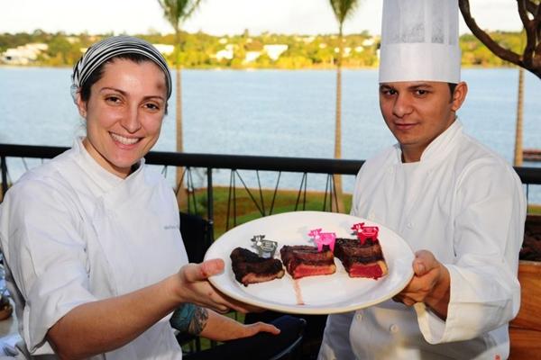Mariana Gilbertoni e Agnaldo Martins, do restaurante Rubaiyat, se adaptaram ao público brasiliense (Bruno Peres/CB/D.A Press - 1/7/13 )