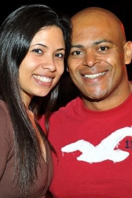 Isabela Melo e Alex Ferreira durante a festa Funfarra (Luis Xavier de França/Esp. CB/D.A Press)