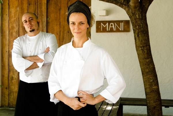 A chef gaúcha Helena Rizzo e seu marido catalense, e também chef, Daniel Redondo (Restaurante Maní/Divulgação)
