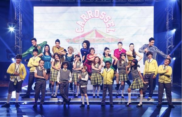 A novela acabou em julho, mas o grupo continua fazendo shows por todo o Brasil  (Lourival Ribeiro/SBT)