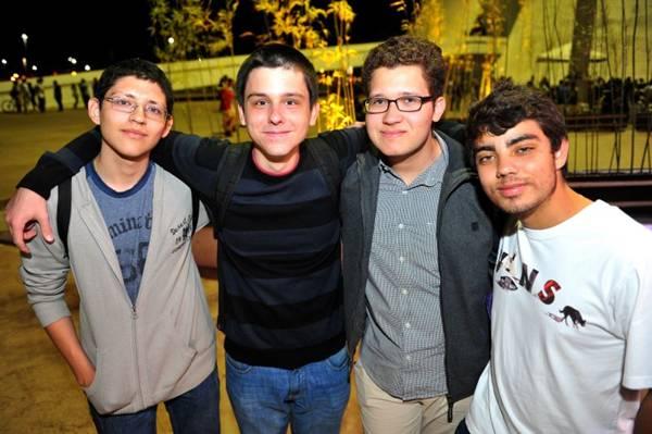 Sérgio Bustamente, Daniel Gemelli, Lucas Oliveira e Rafael Lemos (Luis Xavier de França/Esp. CB/D.A Press)