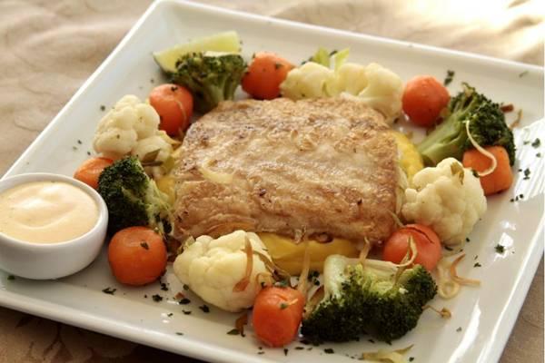 Peixe verde prado é um dos mais pedidos no Bier Fass  (Viola Júnior/Esp. CB/D.A Press)