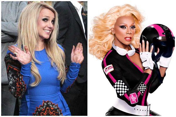 Trechos da música 'Supermodel' da drag RuPaul podem estar em nova música de Britney Spears (REUTERS/Mario Anzuoni/Files, Vh1/ Divulgação)