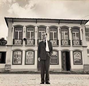 Tancredo em visita a São João Del Rei (MG), em 1962: mostra permanente tem extenso acervo de pertences do ex-presidente  (Acervo Manchete )