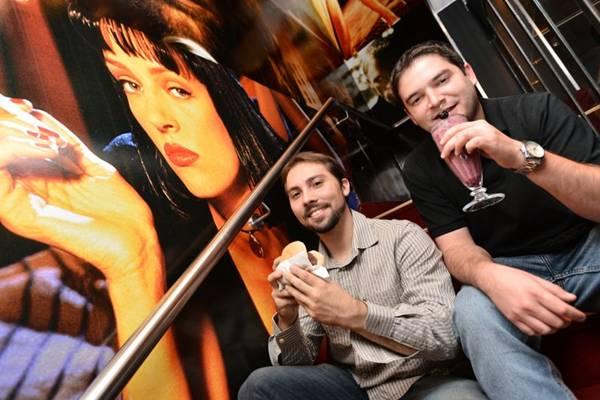 João Manuel Paz e José Augusto Basso uniram a paixão pelo cinema e pela gastronomia (Monique Renne/CB/D.A Press)