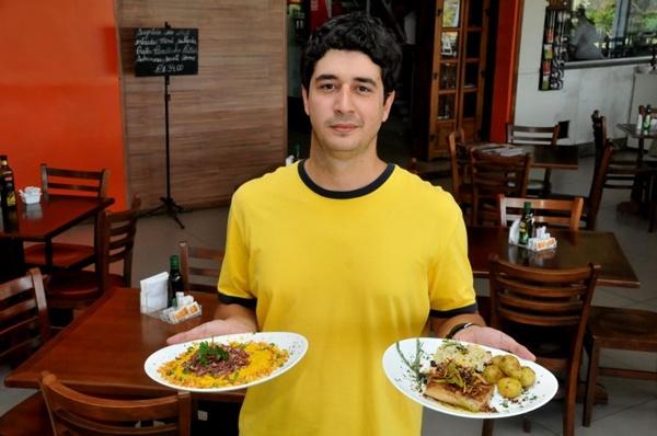 Na hora do almoço, Luiz Felipe troca a agência de publicidade pelo Patuá no Deck Brasil (Antonio Cunha/Esp. CB/D.A Press)