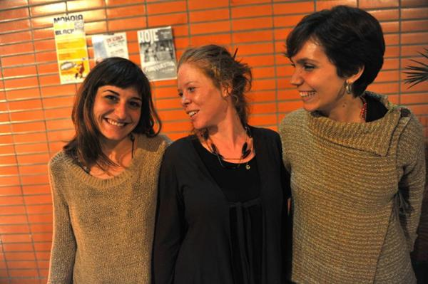 Cineastas espanholas Pato Sardá, Paula Bacariza Souto e Alexandra Campo García (Luis Xavier de França/Esp. CB/D.A Press)