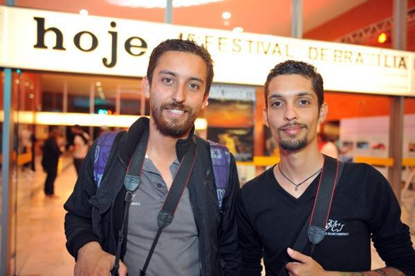 Cineastas colombianos Oscar Hembert Moreno e Carlos Eduardo  (Luis Xavier de França/Esp. CB/D.A Press)