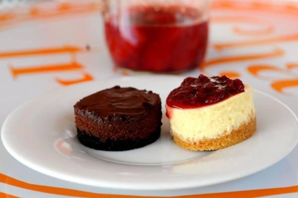 Cheese cakes do cardápio da casa Chá das três: sabores da casa da mãe (Bruno Peres/CB/D.A Press)