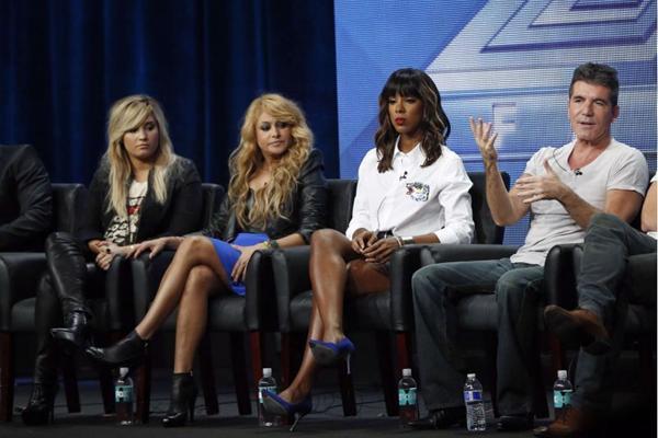 O programa de Simon Cowell está atualmente no ar em três países. Nos EUA, a atração está na terceira temporada e tem, além de Simon, Demi Lovato, Kelly Rowland e Paulina Rubio na bancada de jurados (REUTERS/Mario Anzuoni )