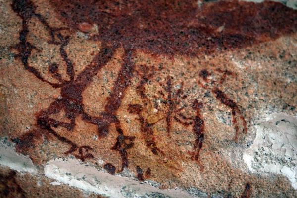 Pintura rupestre em São Raimundo Nonato, no Piauí: sinais de um passado ancestral (Wanderlei Pozzembom/CB/D.A Press)