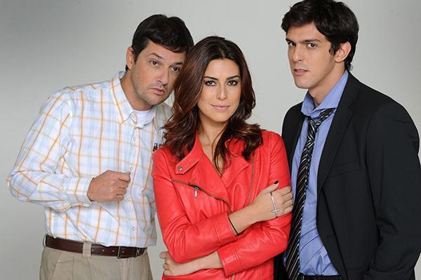 Marcelo Serrado, Fernanda Paes Leme e Rafael Infante estão no elenco do espetáculo Rain Man (Rain Man/Divulgação)