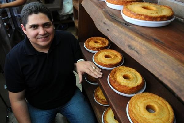Os bolos caseiros são a especialidade da loja Bolos do Flávio (Bruno Peres/CB/D.A Press)