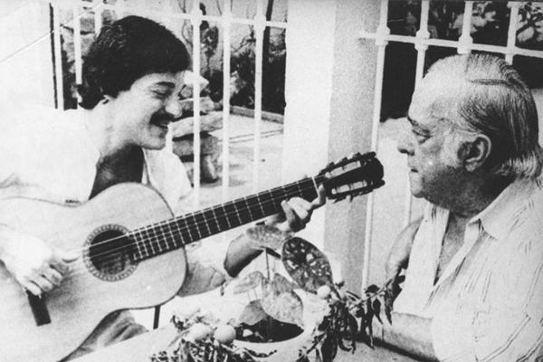 Toquinho e Vinicius, parceiros no clássico Garota de Ipanema (Arquivo/CB/D.A Press)