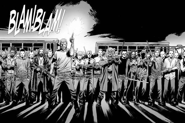 Página de Guerra total, novo capítulo da história em quadrinhos de The Walking Dead (Maxmangás/Reprodução)