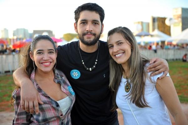 Marina Sales, Moacir Wilson e Caroline Sá Ferreira (Luis Xavier de França/Esp. CB/D.A Press)