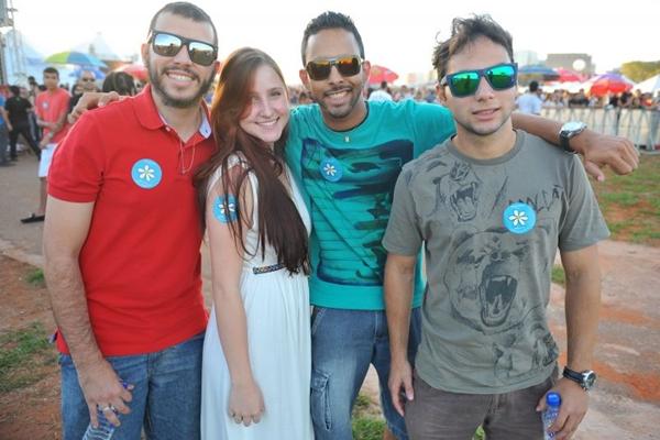 Bruno Miranda, Letícia Braosi, Jhon Andrade e Vanderson Abreu  (Luis Xavier de França/Esp. CB/D.A Press)