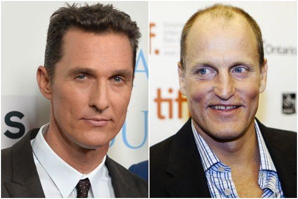 Matthew McConaughey e Woody Harrelson serão os protagonistas de True detective (Alberto E. Rodriguez/Getty Images/AFP e REUTERS/Mark Blinch)