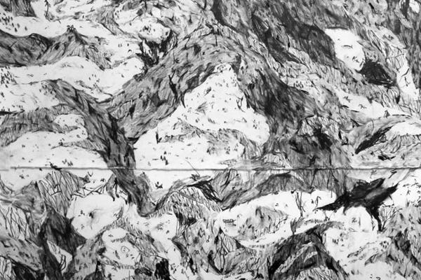Exposição se baseia em viagens do artista brasiliense a três locais: Banff (Canadá), Cruzeiro do Sul (Acre) e Berlim (Alemanha) (Virgílio Neto/iIustração)