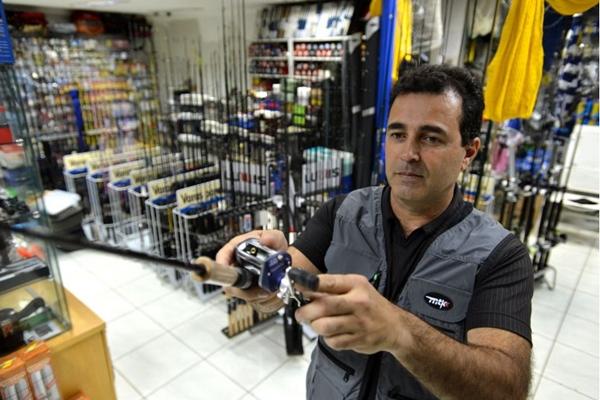 Everaldo Ferreira pesca em Serra da Mesa há 15 anos (Gustavo Moreno/CB/D.A Press)