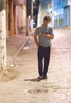 Vladimir Brichta é Beto, que viaja pela Bahia em busca de gravuras antigas (Andrew Kemp/Divulgação)