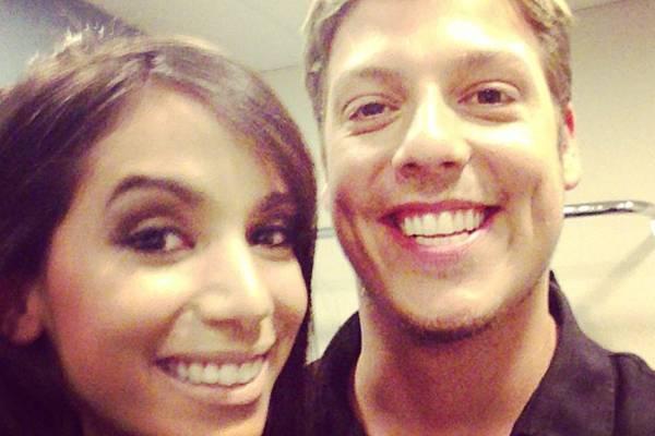 Os dois se conheceram durante as gravações do programa Esquenta (Reprodução/Instagram@fabioporchat)