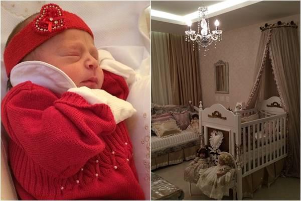 A cantora compartilhou com os seguidores imagens da nova herdeira e do quarto da bebê (Reprodução/Instagram@solalmeidaa)
