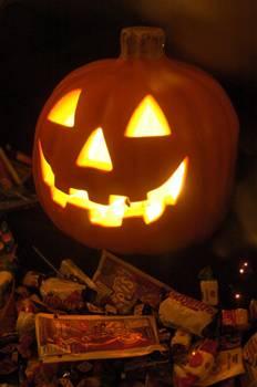 Lanternas feitas de abóbora enfeitam ruas e casas no Halloween  (Carlos Vieira/CB/D.A Press)