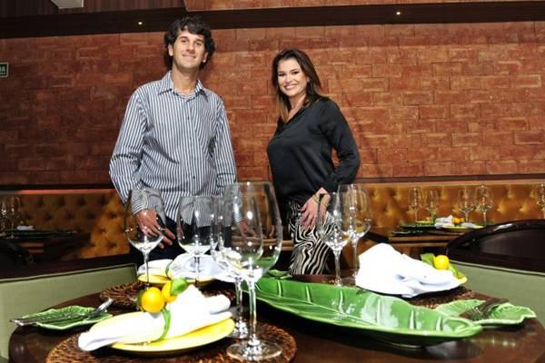 No menu de Eduardo e Fabiany, há polenta cremosa com linguiça e filé envolto em Parma com risoto ( Ed Alves/CB/D.A Press)