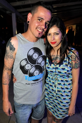 DJ Weirdo e Adriana Peixoto (Luis Xavier de França/Esp. CB/D.A Press)