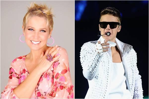 A apresentadora Xuxa questionou sobre as recentes atitudes do cantor no Brasil (Blad Meneghel/Divulgação,Jamie McCarthy/Getty Images/AFP)