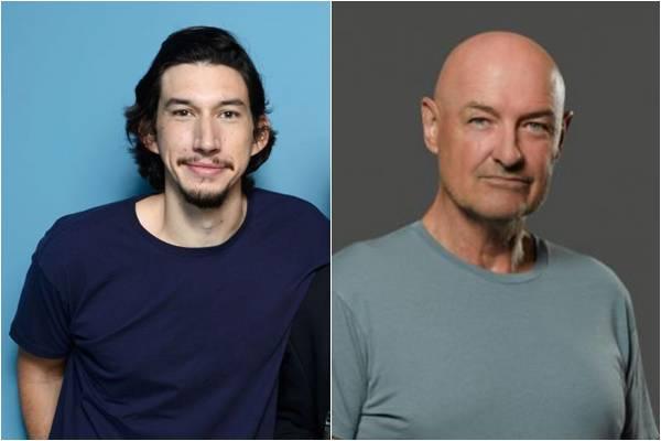 Adam Driver (D) e Terry O'Quin ainda não foram confirmados pela produção (Larry Busacca/Getty Images/AFP, AXN/Divulgação )