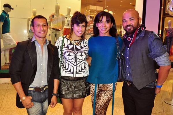 Franklin Frank, Gisele Sales, Nathalia Abi-Ackel e Miguel Habacuc  (Paula Rafiza/Esp. CB/D.A Press)