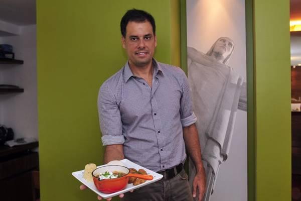 Frederico Bastos, dono do Restaurante Rio Bistrô e Lounge, na 404 Sul ( Ed Alves/CB/D.A Press)