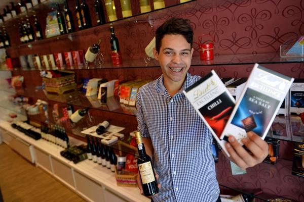 Alan Viana investe na combinação entre chocolates finos e Vinhos (Gustavo Moreno/CB/D.A Press)