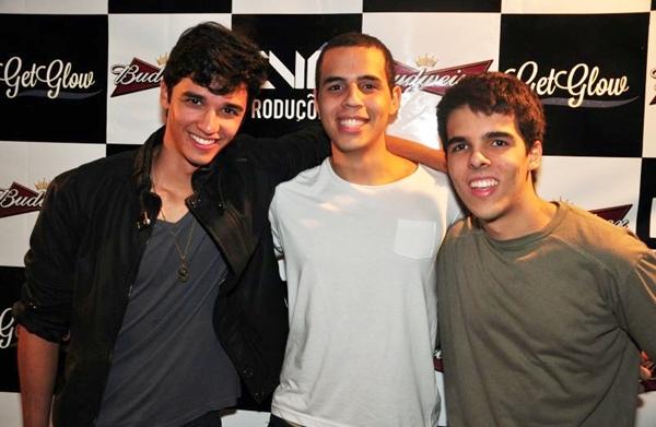 Gabriel Santos, Luiz Claudio Gomes e Gabriel Veras (Paula Rafiza/Esp. CB/D.A Press)